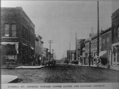 Russell Street Looking West 1910's