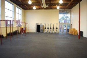 Inside CrossFit MLK. The vault remains.