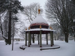 Dawson Park Gazebo Covered in Snow - 2008