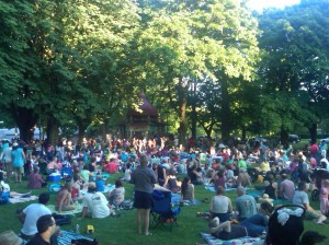 Big Crowd at Dawson Park Concert 2012