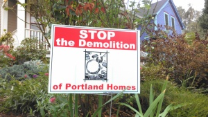 Stop the Demolition Sign