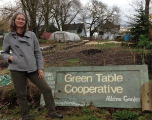 Shara Alexander at Green Table Cooperative garden