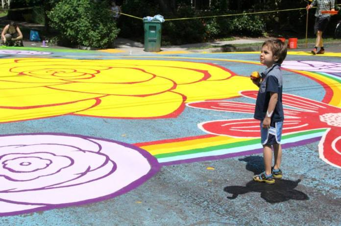 Intersection Painting Boy
