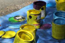 Intersection Painting Paint Cans