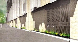 Proposed building along Kerby