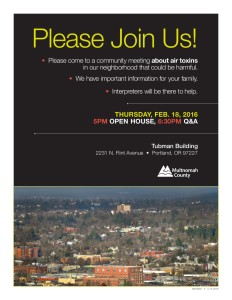 Air Toxin Meeting Flyer
