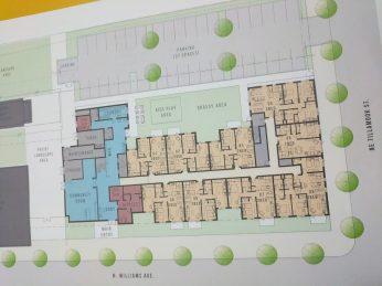 Ground floor drawing for development and Williams and Tillamook