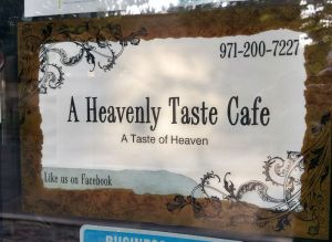 Sign for A Heavenly Taste Cafe