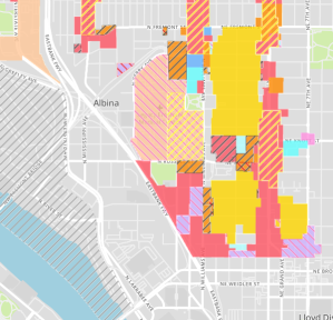 Map of Zoning Changes expected to be effective 1/1/18