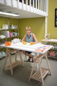 Karen Spencer at work