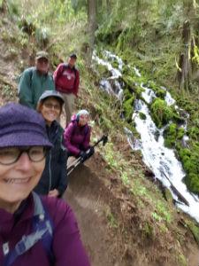 Walking Group Friends on a hike