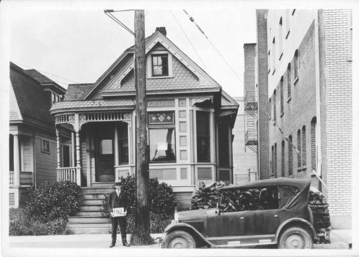 Historical black and white photo of Martin Mayo house in 1929
