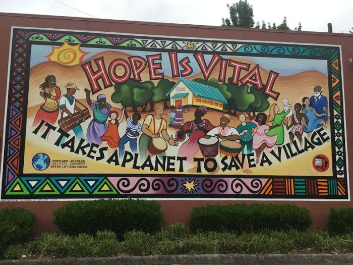 Photo of Hope is Vital mural
