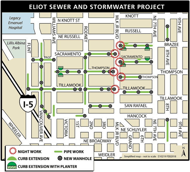 Eliot Sewer and Stormwater Project Map